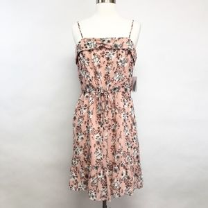 forever 21 | floral ruffle pink dress flowy